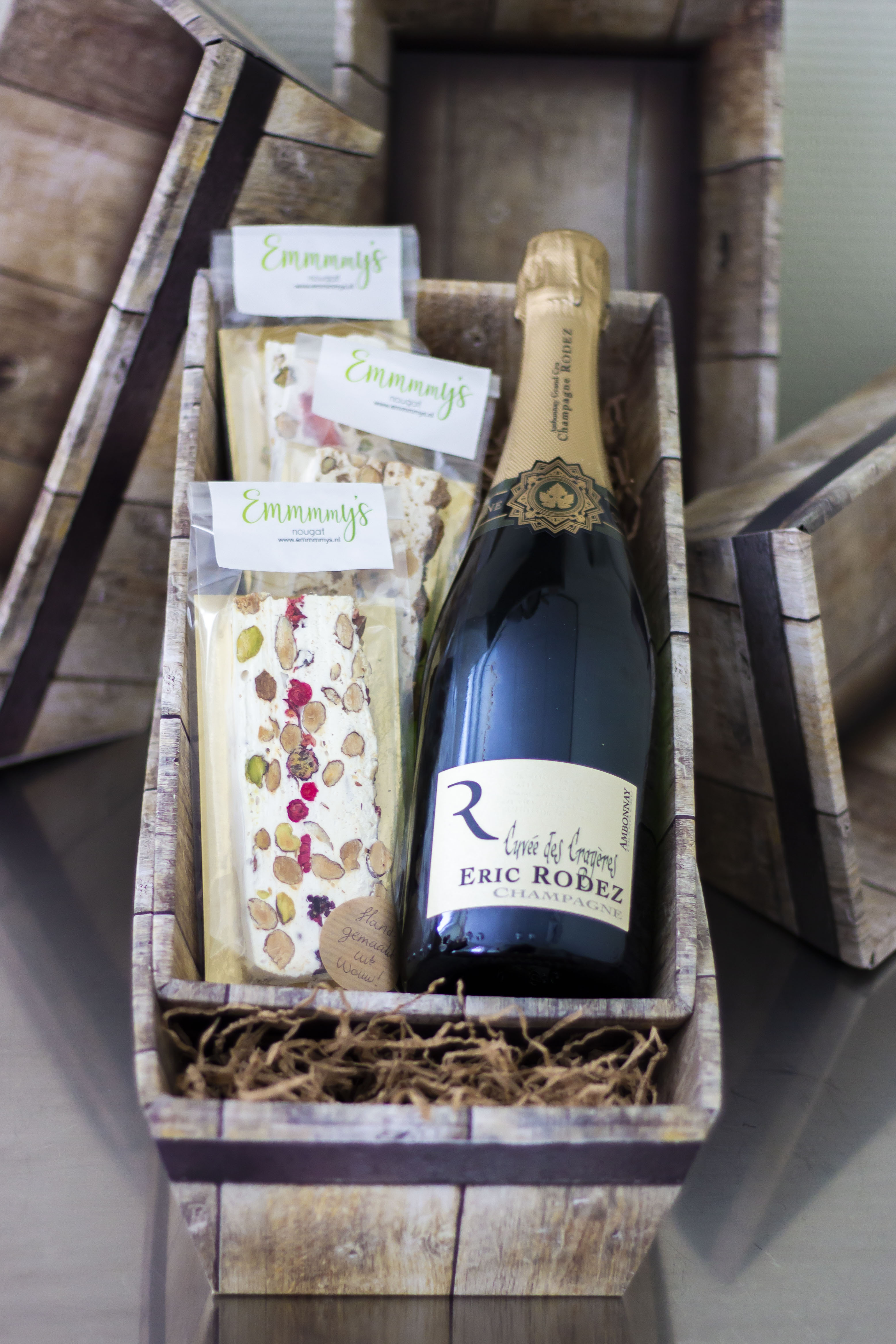 3 repen EMmmmy's nougat + Eric Rodez Champagne